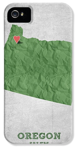 I Love Salem Oregon- Green IPhone 5 Case by Aged Pixel