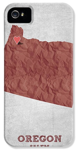 I Love Salem Oregon- Red IPhone 5 Case by Aged Pixel
