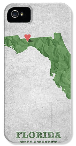 I Love Tallahassee Florida - Green IPhone 5 Case by Aged Pixel