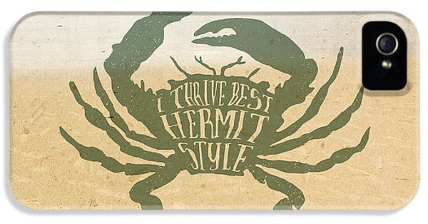 I Thrive Best Hermit Style Typography Crab Beach Sea IPhone 5 Case
