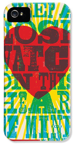 I Walk The Line - Johnny Cash Lyric Poster IPhone 5 Case