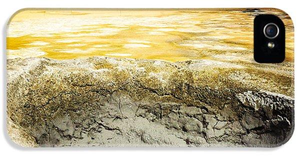 Orange iPhone 5 Case - Iceland Geothermal Area Hverir Namaskard by Matthias Hauser