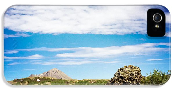 Blue iPhone 5 Case - Iceland Landscape And Blue Sky by Matthias Hauser