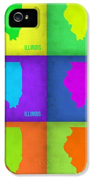 University Of Illinois iPhone 5 Case - Illinois Pop Art Map 1 by Naxart Studio