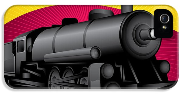 Train iPhone 5 Case - Illustration Of Old Stylized by Radoman Durkovic
