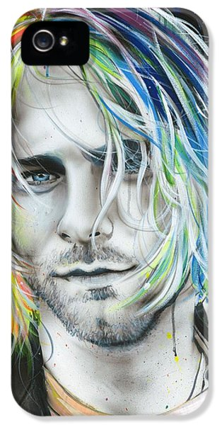 Kurt Cobain - ' In Debt For My Thirst ' IPhone 5 / 5s Case by Christian Chapman Art