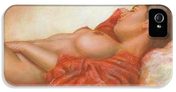 Nudes iPhone 5 Case - In Her Own World by John Silver