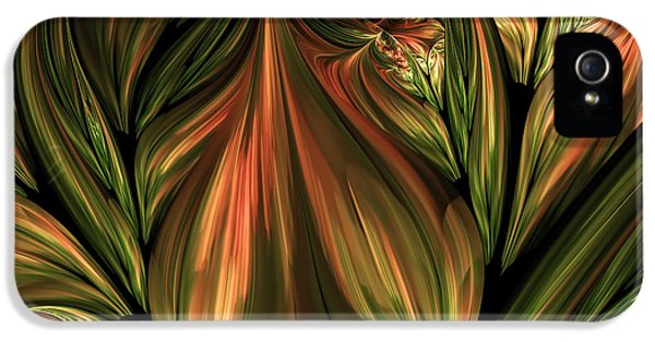 In The Midst Of Nature Abstract IPhone 5 Case by Georgiana Romanovna