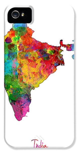 India Watercolor Map IPhone 5 Case