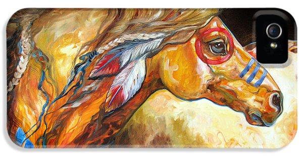 Indian War Horse Golden Sun IPhone 5 Case
