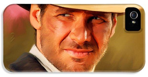 Indiana Jones IPhone 5 Case by Paul Tagliamonte
