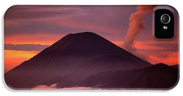 Mountain iPhone 5 Case - Indonesia Mt Semeru Emits A Plume by Jaynes Gallery