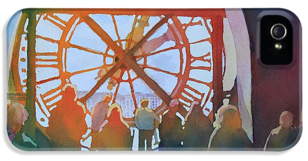 Clock iPhone 5 Case - Inside Paris Time by Jenny Armitage