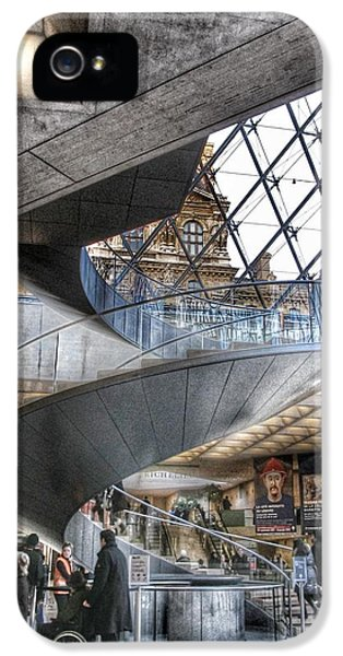 Louvre iPhone 5 Case - Inside The Louvre Museum In Paris by Marianna Mills