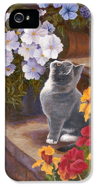 Inspecting The Blooms IPhone 5 Case by Evie Cook