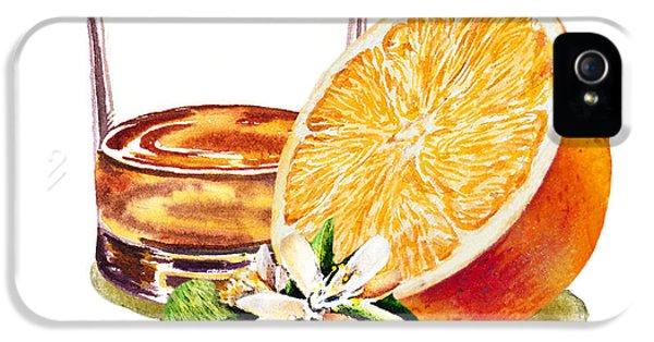 IPhone 5 Case featuring the painting Irish Whiskey And Orange by Irina Sztukowski