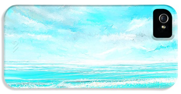 Island Memories - Seascapes Abstract Art IPhone 5 Case by Lourry Legarde