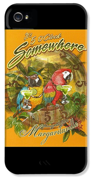 Parrot iPhone 5 Case - It's 5 O'clock Somewhere by Desiderata Gallery