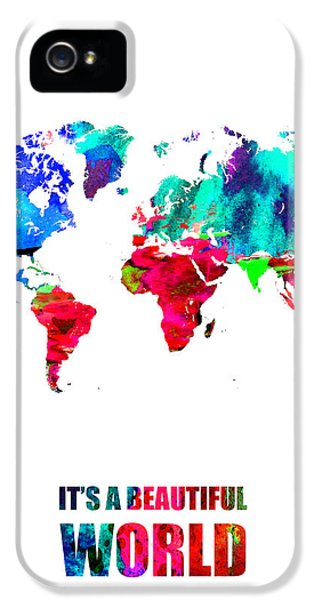 It's A Beautifull World Poster IPhone 5 Case by Naxart Studio