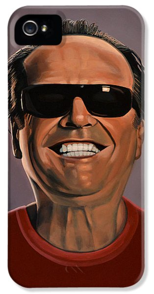 Jack Nicholson 2 IPhone 5 Case by Paul Meijering