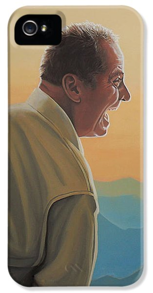 Knight iPhone 5 Case - Jack Nicholson And Morgan Freeman by Paul Meijering
