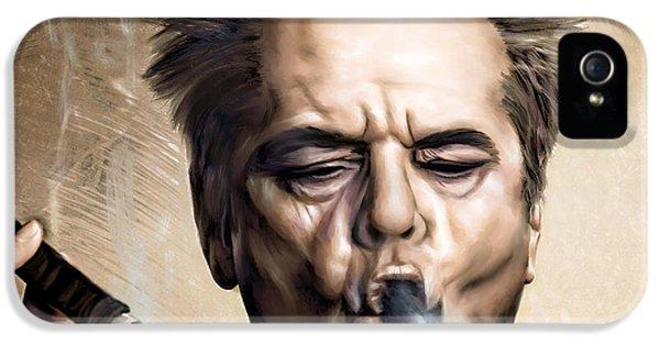 Jack Nicholson IPhone 5 Case by Andrzej Szczerski