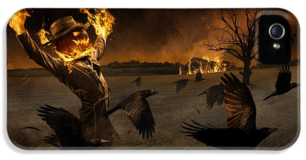 French iPhone 5 Case - Jack-o\'-scarecrow by Christophe Kiciak