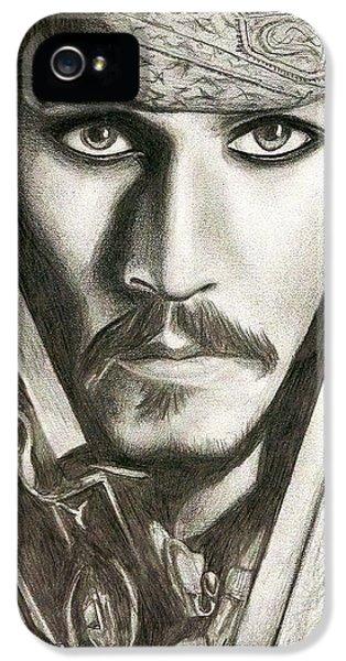 Jack Sparrow IPhone 5 / 5s Case by Michael Mestas