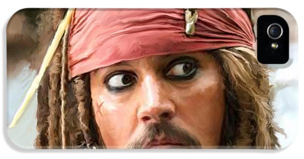 Jack Sparrow IPhone 5 Case by Paul Tagliamonte