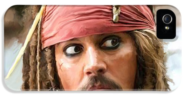 Johnny Depp iPhone 5 Case - Jack Sparrow by Paul Tagliamonte