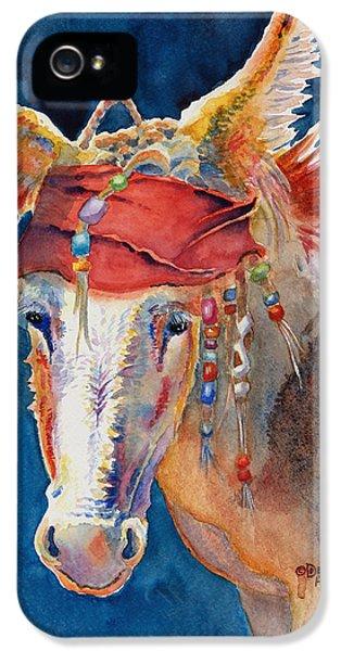 Johnny Depp iPhone 5 Case - Jack Burro -  Donkey by Deb  Harclerode