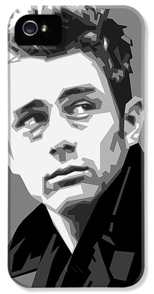 James Dean In Black And White IPhone 5 Case by Douglas Simonson