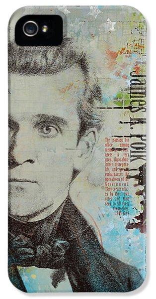 Washington Monument iPhone 5 Case - James K. Polk by Corporate Art Task Force