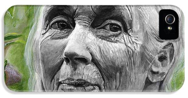 Jane Goodall IPhone 5 / 5s Case by Simon Kregar