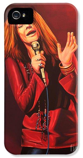 Janis Joplin Painting IPhone 5 Case by Paul Meijering