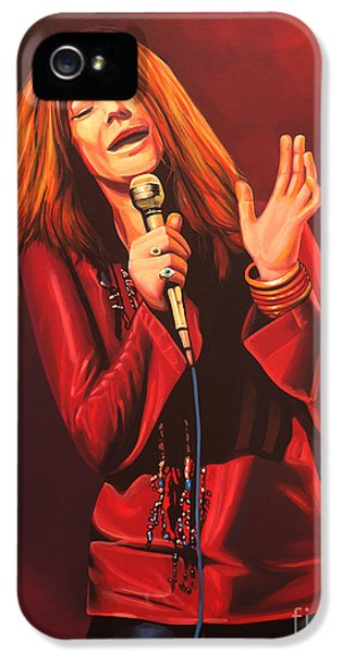 Janis Joplin Painting IPhone 5 Case by Paul Meijering