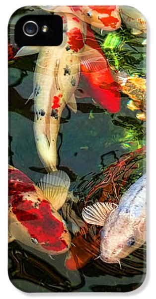 Koi iPhone 5 Case - Japanese Koi Fish Pond by Jennie Marie Schell