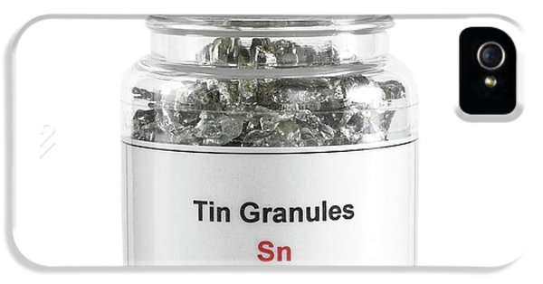 Toxicity iPhone 5 Case - Jar Containing Tin Granules by Science Photo Library