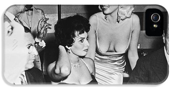 Jayne Mansfield, Sophia Loren IPhone 5 Case by Underwood Archives
