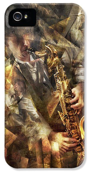 Saxophone iPhone 5 Case - Jazz by Christophe Kiciak