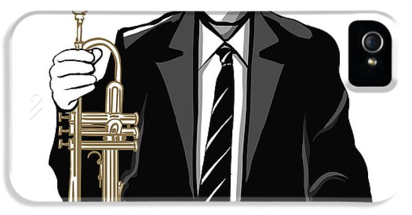 Trumpet iPhone 5 Case - Jazz Trumpet Player - Vector by Isaxar