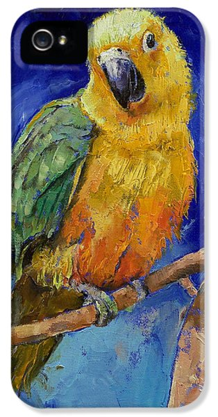 Macaw iPhone 5 Case - Jenday Conure by Michael Creese