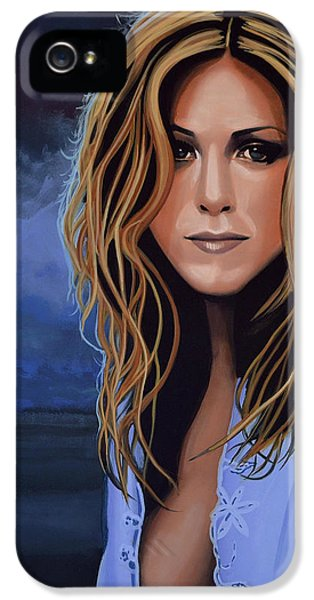 Jennifer Aniston Painting IPhone 5 Case by Paul Meijering