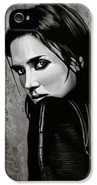 Jennifer Connelly Painting IPhone 5 Case by Paul Meijering
