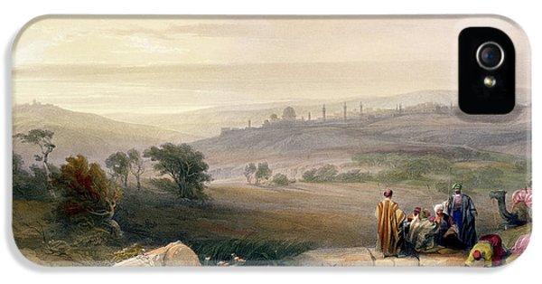 Jerusalem, April 1839 IPhone 5 Case by David Roberts