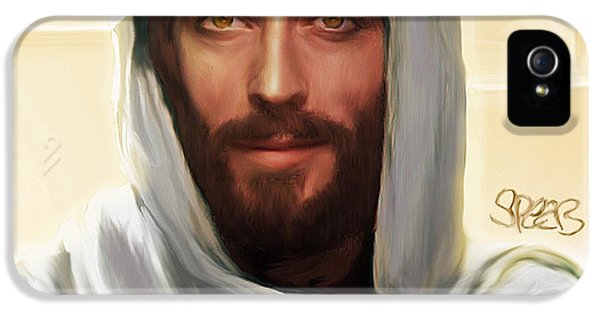 Jesus Smiling IPhone 5 Case by Mark Spears