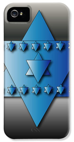 IPhone 5 Case featuring the digital art Jewish Stars by Marvin Blaine