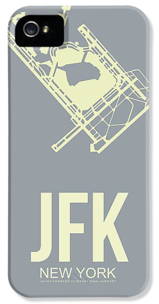 Town iPhone 5 Case - Jfk Airport Poster 1 by Naxart Studio