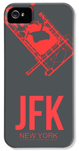 Broadway iPhone 5 Case - Jfk Airport Poster 2 by Naxart Studio