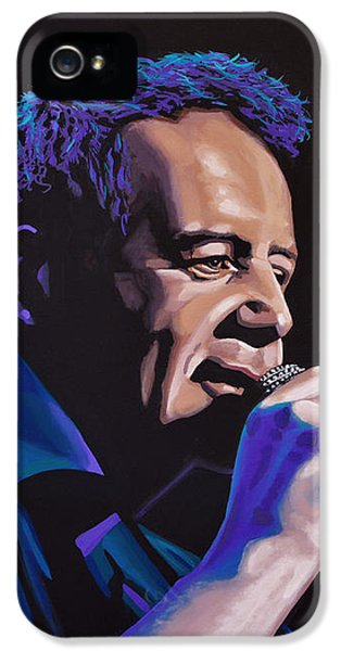 Jim Kerr Of The Simple Minds Painting IPhone 5 Case by Paul Meijering